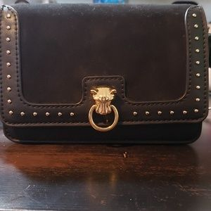 Small Topshop crossbody panther detail bag